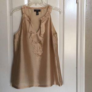 Alfani short sleeve gold blouse